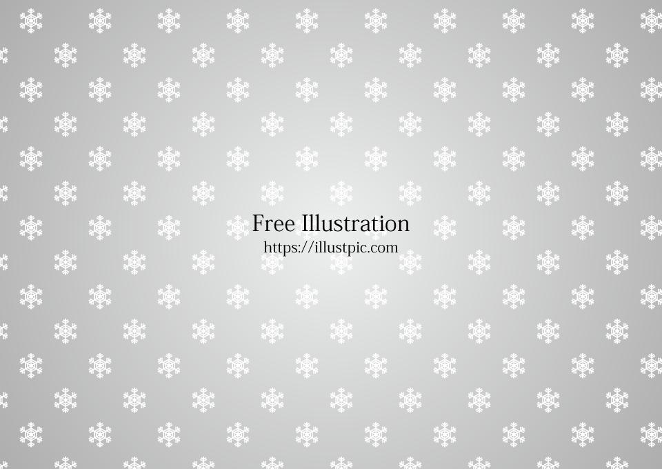 シルバー背景の雪結晶模様 無料の壁紙画像集illustlive